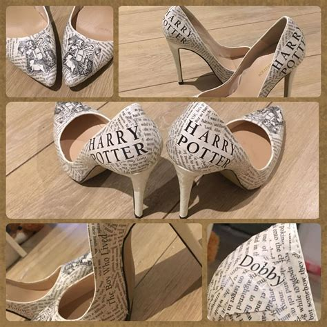 Decoupage Shoes Diy - harry potter decoupage shoes wedding shoes harry potter