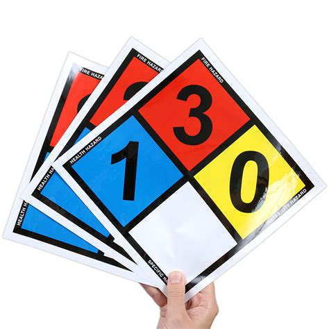 safety sign nfpa 704 placard and dot placard sku