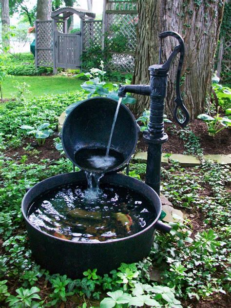 10 refreshing container water features landscaping ideas