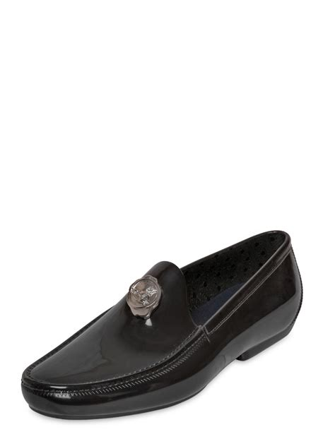 vivienne westwood loafers vivienne westwood logo seal rubber loafers in black for