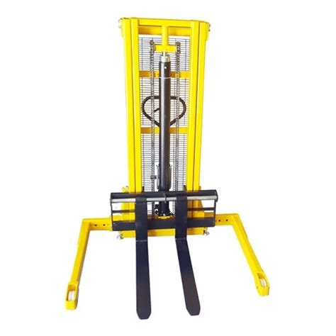 Stacker Manual Kap 1 5ton Lifting 2 5mtr New straddle leg lifter 2 5m lift 1000kg capacity mitaco mitaco pty ltd
