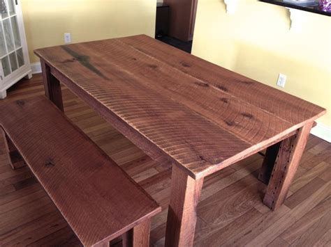 reclaimed oak dining table benches cz woodworking