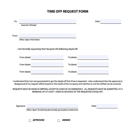 Time Off Request Form 24 Download Free Documents In Pdf Word Time Request Template