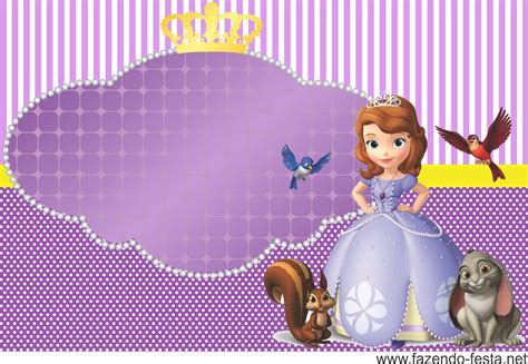 kit festa princesa sophia convite sofia the first