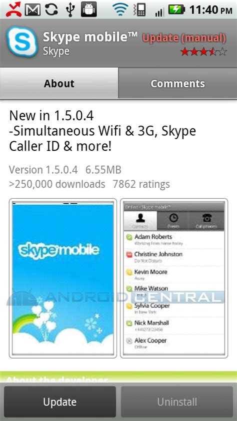 skype for android skype mobile for android now works 3g and wifi but still verizon only android central