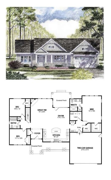 great cottage country craftsman ranch southern traditional