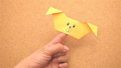 Origami Puppets - how to create an origami puppy finger puppet 15 steps