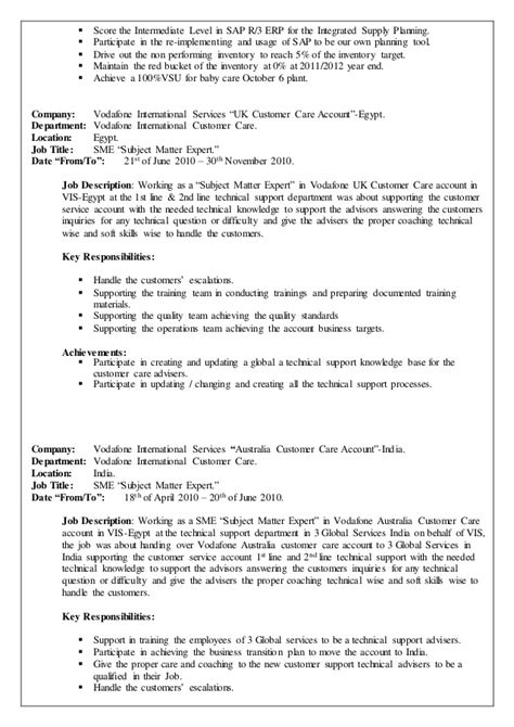 supply chain manager resume sle 28 supply planner resume customer service manager