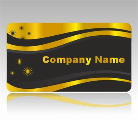 Shiny Card Template by Glossy Gold Business Card Template Set Welovesolo