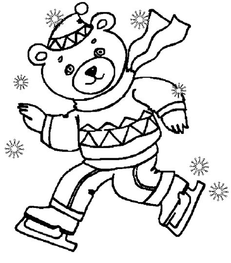 free coloring pages animals in winter winter coloring pages coloringmates clip library