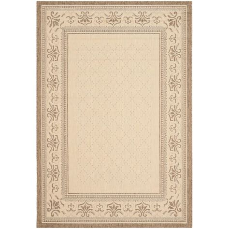 Outdoor Patio Area Rugs Safavieh Courtyard Brown 9 Ft X 12 Ft Indoor