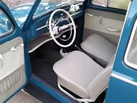 volkswagen beetle 1960 interior 1964 sea blue vw beetle interior youtube