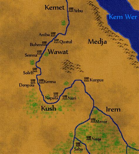 africa map kush ancient nubia by dabrandonsphere on deviantart