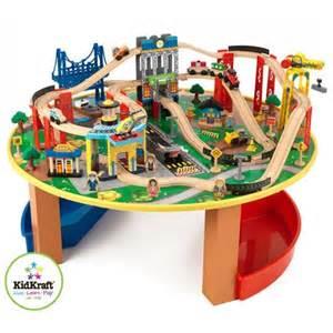 brio tisch eisenbahn houten speelgoed trein city explorer met tafel