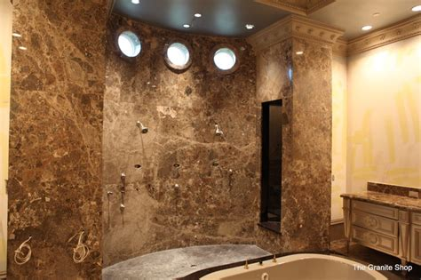 granite bathroom floor modern slab bathroom floor with design slab shower
