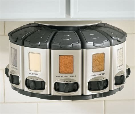 Auto Measure Spice Rack by Spice Rack Carousel With Auto Measure
