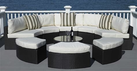 Half Circle Patio Furniture Semi Circular Sofa Outdoor Sofa Menzilperde Net
