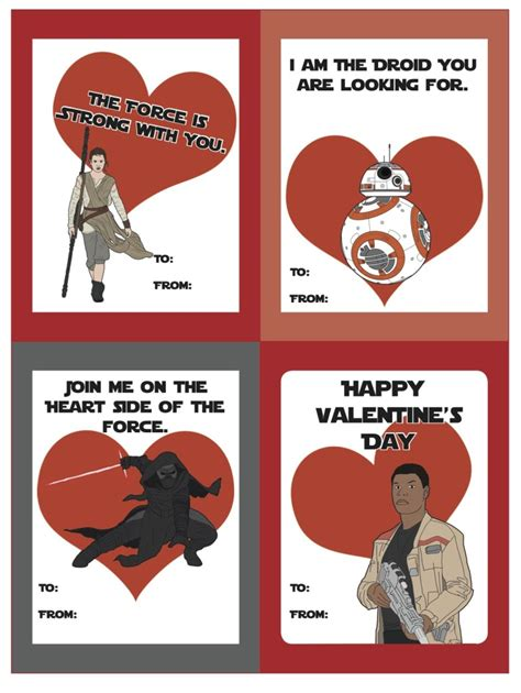 valentines day wars free printable wars the awakens valentines