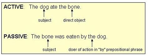 the pattern of passive voice exles
