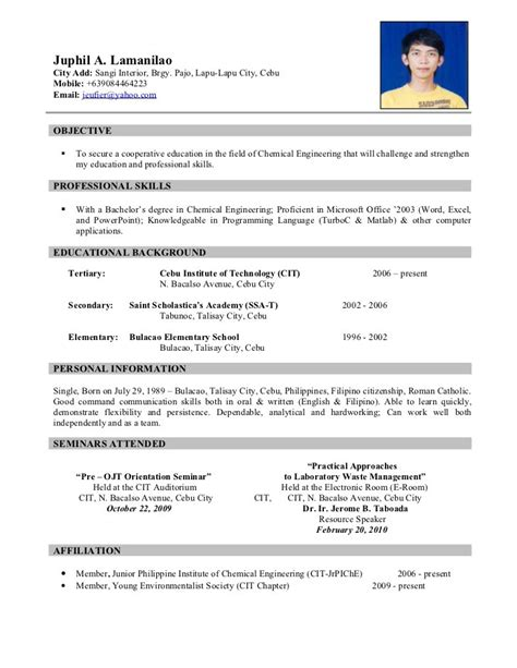 free resume format with photo resume sle resume cv
