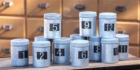 galvanized seed saver canisters set    rustic