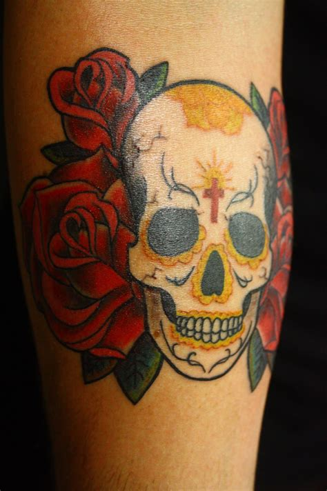 candy skull tattoo new sugar skull
