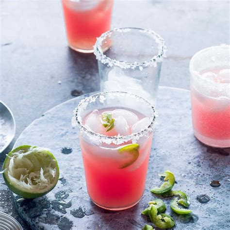watermelon margarita recipe jalape 241 o watermelon margaritas recipe eatingwell