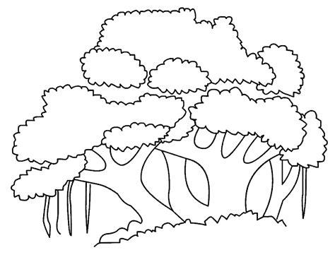 gambar pohon beringin untuk diwarnai anak anak contoh anak paud