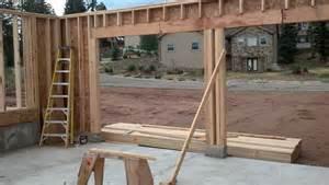 Garage Door Framing Stannard Log Home Garage