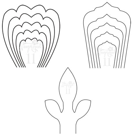 Pdf Set Of 2 Flower Templates And 1 Leaf Template Giant Paper Flower Template Flower Wall Large Paper Flower Template Printable