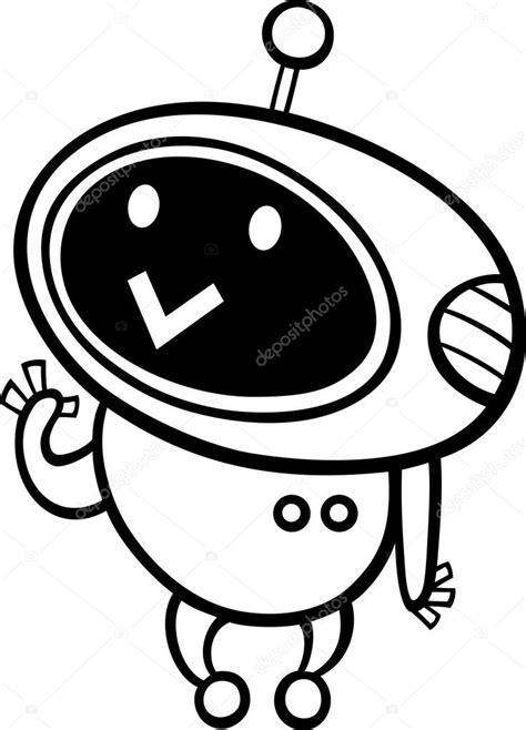 imagenes kawai en blanco y negro p 225 gina para colorear de dibujos animados kawaii robot