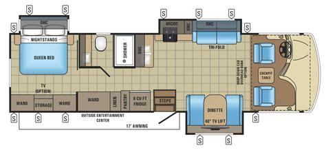 class a floor plans 2017 alante class a motorhome floorplans prices jayco
