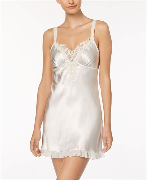 Linea Donatella linea donatella satin midnight chemise in white lyst