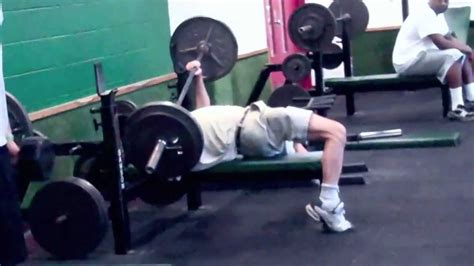 most weight bench pressed epic bench press maneuver youtube