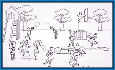 imagenes de niños jugando en un columpio para colorear dibujos para colorear jugando para ni 241 os