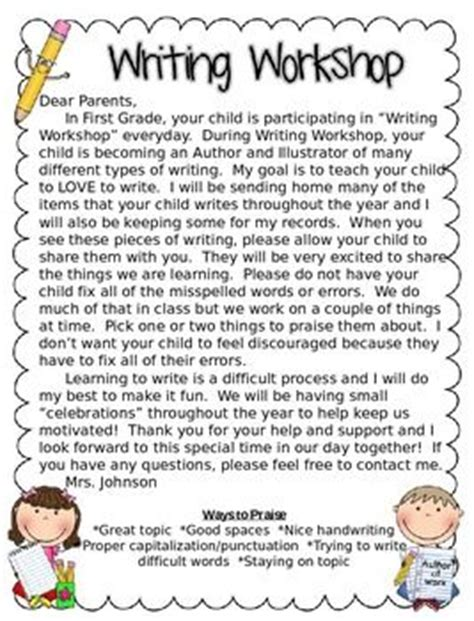 Parent Workshop Letter 17 Best Ideas About Notes To Parents On Parent Notes And Classroom Procedures