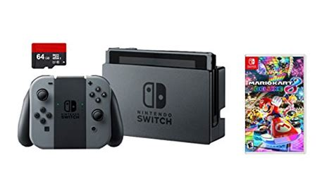 Nintendo Switch Grey Bundle 1 Free Pouch And Screen Protector nintendo switch 3 items bundle nintendo switch 32gb console gray con 64gb micro sd memory