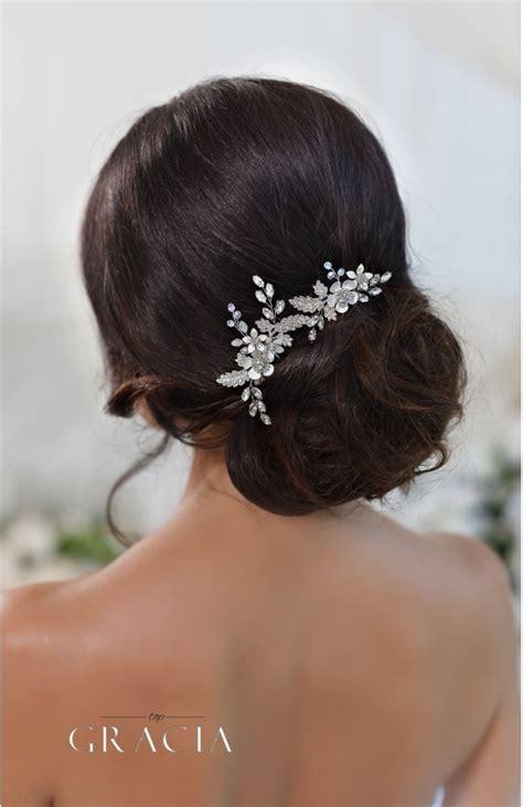Bridal Flower Hair Pin chara flower bridal hair pins by topgracia