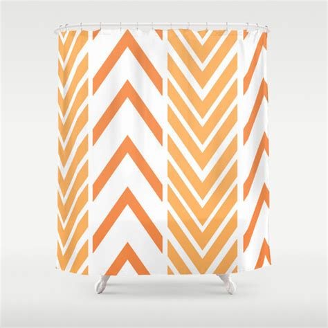 Orange And White Shower Curtain by Shower Curtain Orange And White Shower Curtain Arrow Shower
