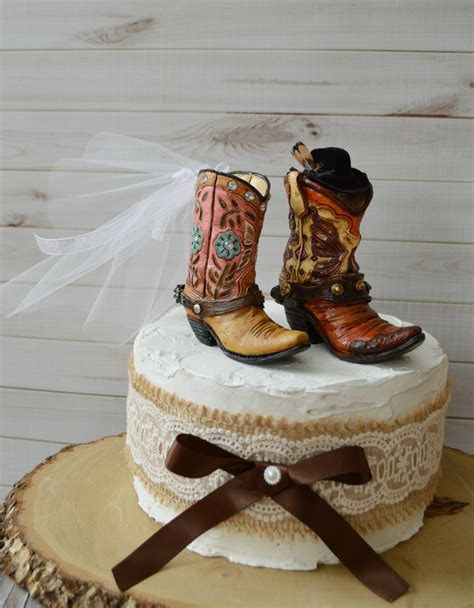Cowboy Boots Cake Decorations by Cowboy Wedding Boot Cake Topper Hat Western Country