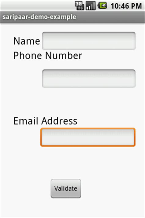 name validation pattern in android android practices name phone number email validation