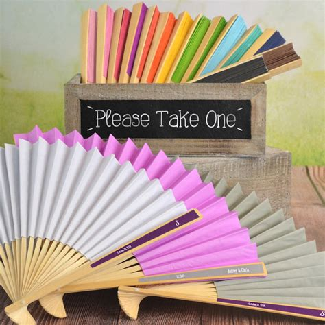 personalized folding fans for weddings paper hand fans for weddings www pixshark com images