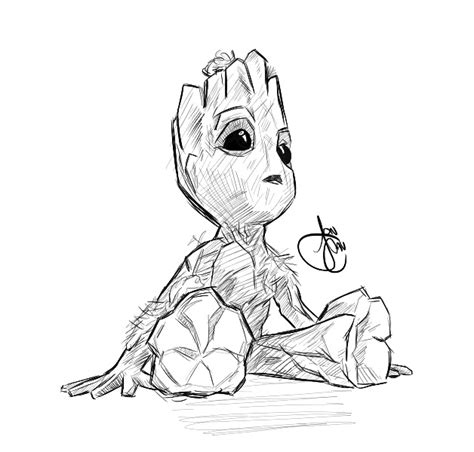 coloring page baby groot baby groot by joncav182 on deviantart