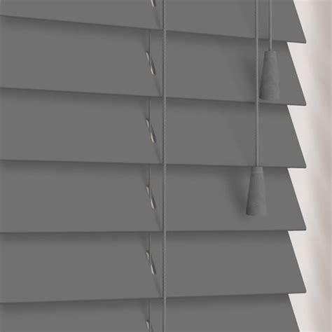 grey wooden blinds luxury 50 mm painted wood venetian