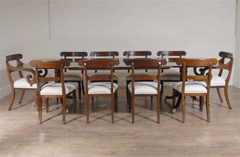 10 Ft English Regency Dining Table Set 10 Chairs Chair Dining Table Set For 10