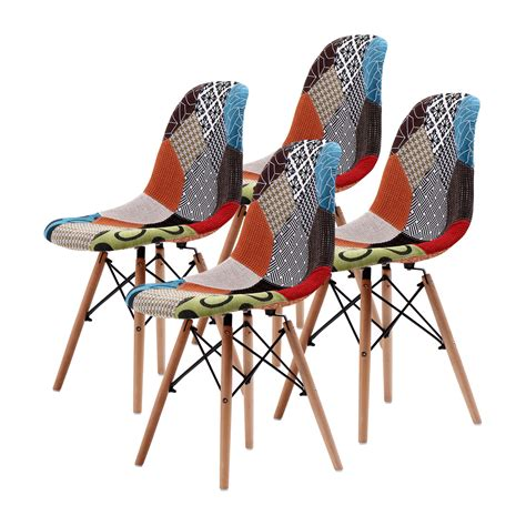 Coloured Eames Chairs by Replica Eames Dsw Dining Chair Multi Colour X4 La