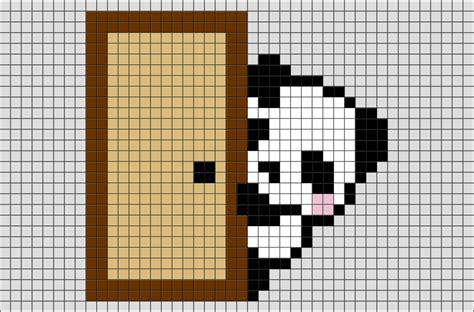 panda pixel template panda pixel brik