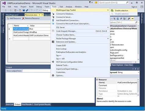 windows 10 app development tutorial using c windows 10 development localization