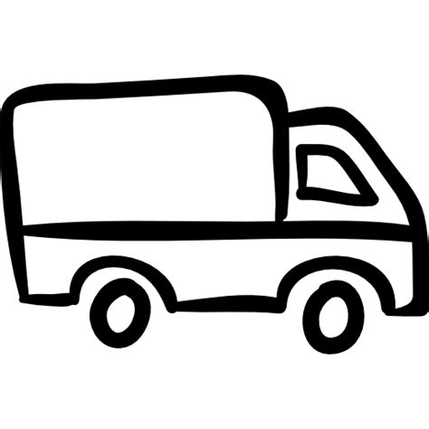 Truck Outline by Truck Outline Pointing To Right Free Transport Icons