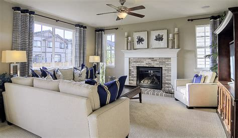 Living Room Layout With Fireplace And Tv On Opposite Walls Richmond American Homes Baltimore